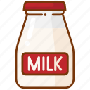 bottle, drink, milk icon