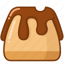 cake, chocolate, pudding icon