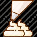 cake, cream, frosting icon