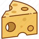 cheddard, cheese, food icon