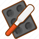 baking, pan, shovel icon