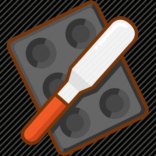baking, pan, shovel icon