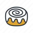 bakery, bun, cinnamon icon