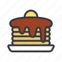 breakfast, flapjacks, food, hotcakes, pancake, pancakes, syrup icon