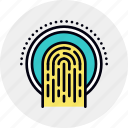 access, data, finger, fingerprint, recognition, scan, scanning icon