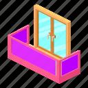architecture, balcony, house, isometric, modern, object, window