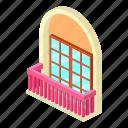 architecture, balcony, house, isometric, narrow, object, window