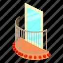 architecture, balcony, house, isometric, little, object, window