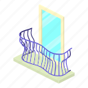 architecture, balcony, curved, house, isometric, object, window