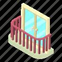architecture, balcony, house, isometric, object, stylish, window