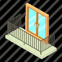 architecture, balcony, building, house, isometric, object, window