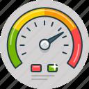 dashboard, speed, speedometer, widgets icon