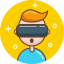 glasses, oculus, reality, virtual, vr icon