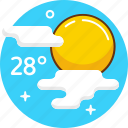 clouds, summer, sun, sunny, weather icon