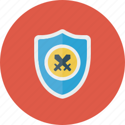 firewall, safe, secure, security, shield, swords icon