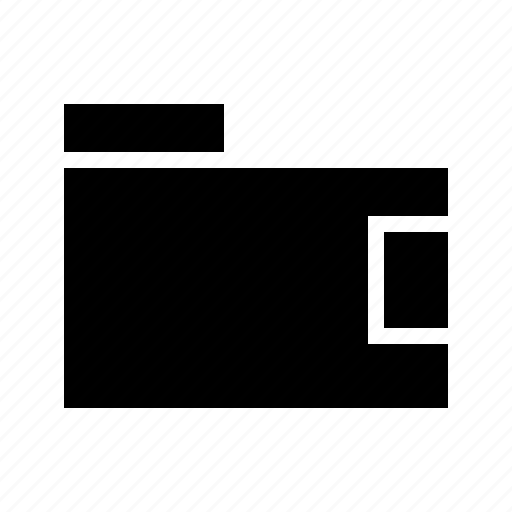 billfold, pocket book, purse, wallet icon