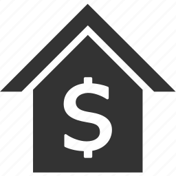 bank, business, dollar, finance, house icon