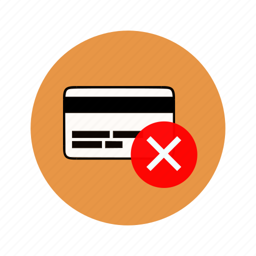 account denied, bank card, banking, card, transfer canceled icon
