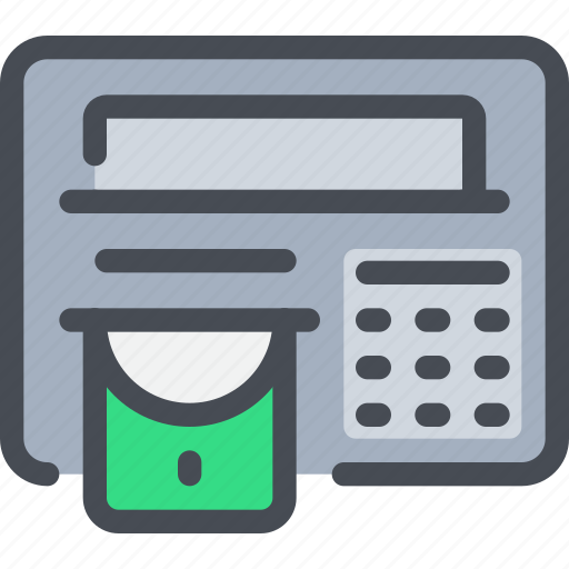 atm, bank, banking, business, money, payment icon