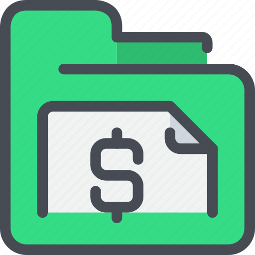 bank, business, document, file, folder, money icon
