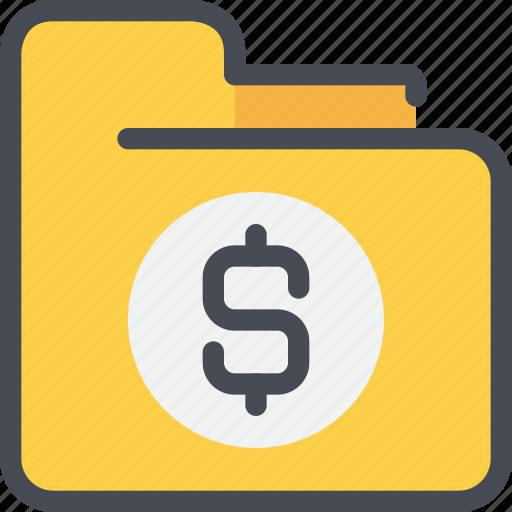 bank, business, data, document, folder, money icon
