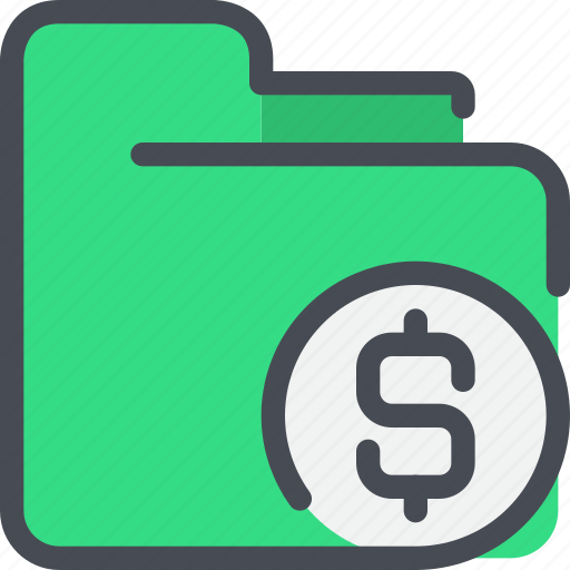 bank, document, file, folder, money, payment, wallet icon
