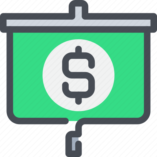 bank, business, money, presentation, report icon