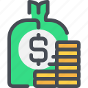 bag, bank, banking, business, investment, money, saving icon