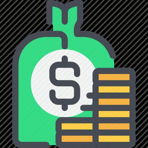 bag, bank, banking, business, investment, money, saving icon