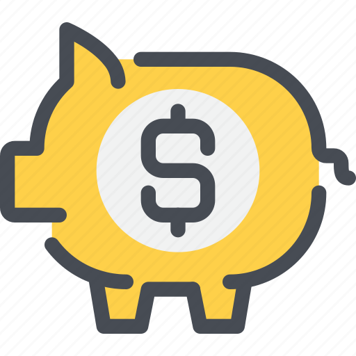 bank, banking, business, money, piggy icon