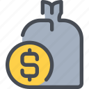 bag, bank, business, money, saving icon