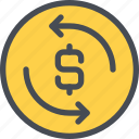 arrow, bank, business, exchange, money icon