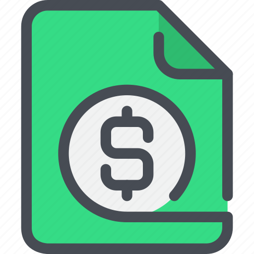 bank, business, document, file, finance, money icon