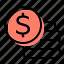 deposits, coins, money, savings