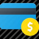 action, bank, card, dollar, money icon