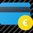action, bank, card, euro, money icon
