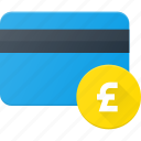action, bank, card, money, pound icon