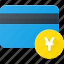 action, bank, card, money, yen icon
