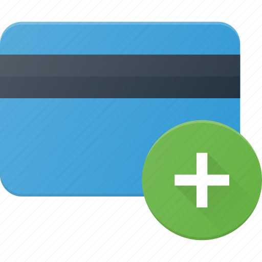 action, add, bank, card, plus icon