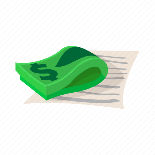 business, cartoon, contract, dollar, investment, loan, money icon