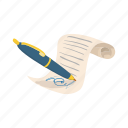 agreement, business, cartoon, contract, deal, document, paper icon
