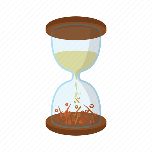 cartoon, clock, countdown, hourglass, sand, sign, time icon