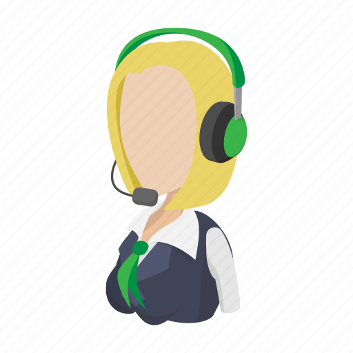 Bank Cartoon Consultant Green Headphone Headset Support Icon