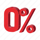 cartoon, discount, percent, percentage, sale, sign, zero icon