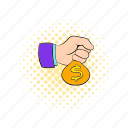 blog, business, comics, dollar, hand, money, site icon