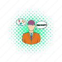 application, approval, blog, comics, loan, man, site icon