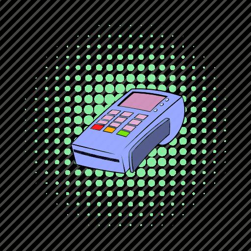 blog, card, comics, credit, site, terminal, transaction icon