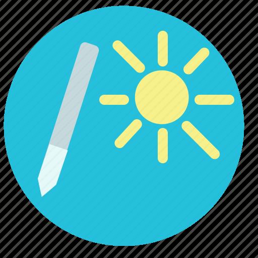 edit, nature, paint, pen, picture, summer, sun icon