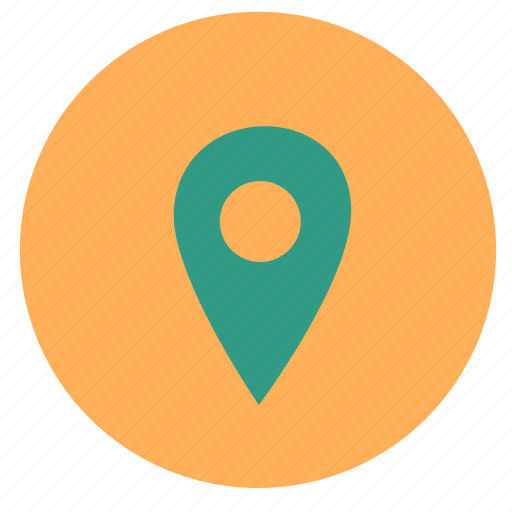 direction, interface, map, pin, place icon