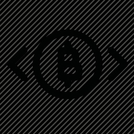 bitcoin, coin, gaps, selection, sign icon